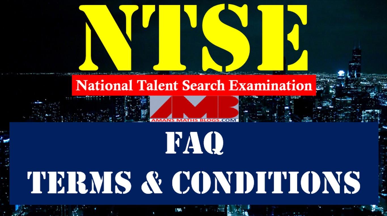 NTSE FAQ-https://www.amansmathsblogs.com
