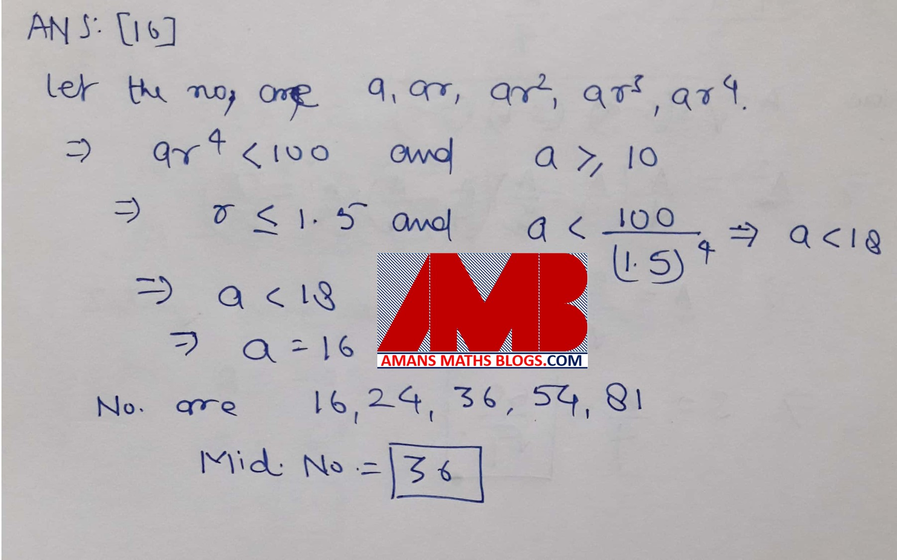 Pre RMO 2017 ANSWER KEYS WITH SOLUTION AND CUT-OFF-MARKS