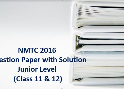 nmtc 2016 question papers with solutions inter level