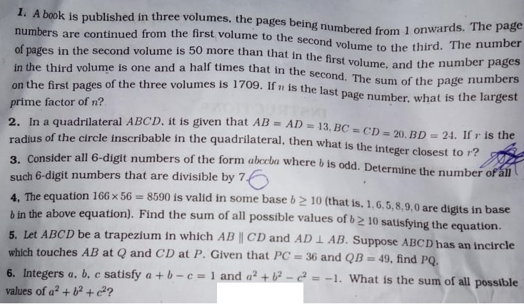 pre rmo 2018 question paper 1