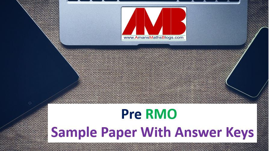pre rmo sample paper with answer keys