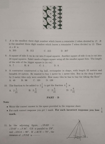 NMTC 2018 Question Papers With Solutions Primary Level Class