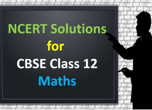 NCERT Solutions For CBSE Class 12 Maths