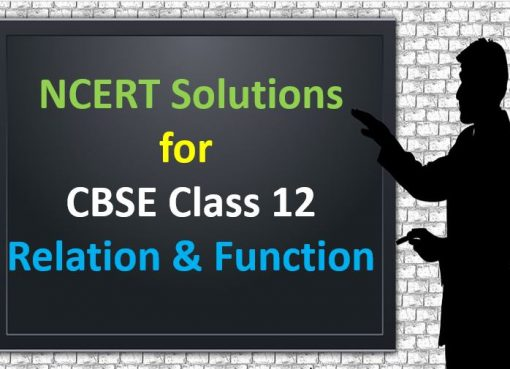 NCERT Solutions For CBSE Class 12 Relations and Functions