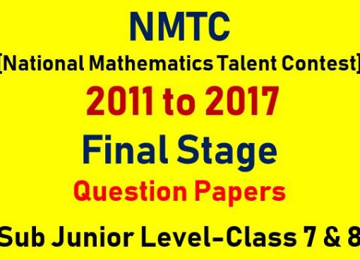 nmtc final stage class 7 and 8