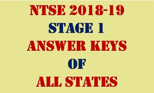 ntse 2018 answer keys of all states
