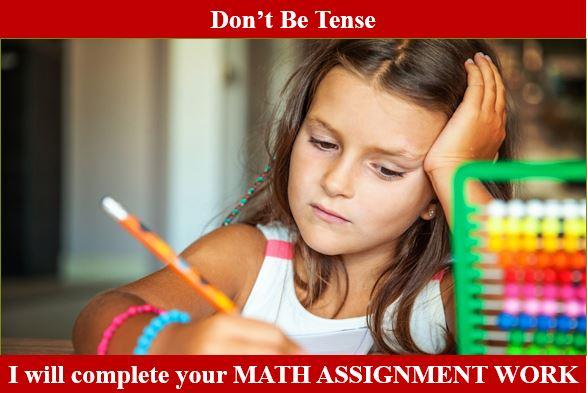 Math Assignment Work