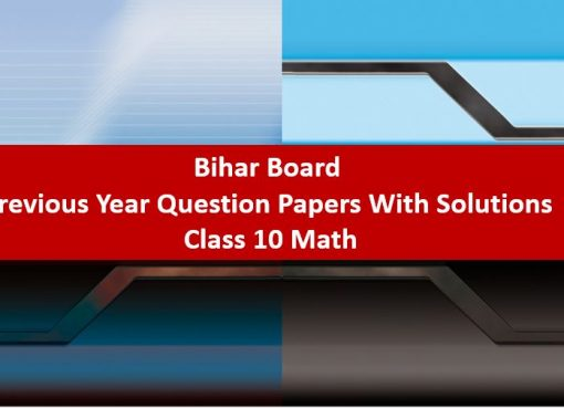 Bihar Board Previous Year Question Papers With Solutions Class 10 Math
