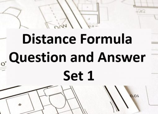 Distance Formula Question and Answer Set 1