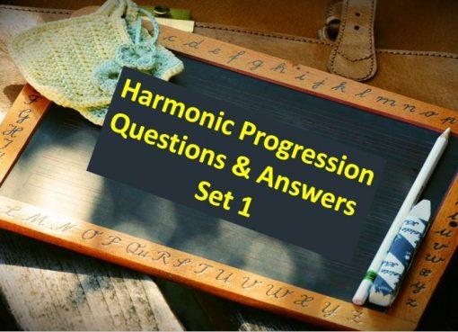 Harmonic Progression Question and Answer Set 1