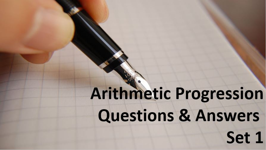arithmetic progression questions and answers set 1