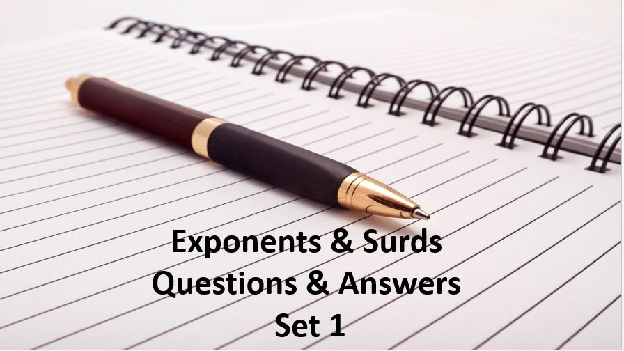 exponents and surds questions and answers set 1
