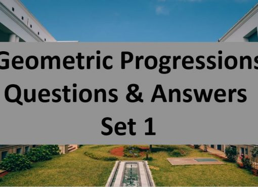 geometric progressions questions and answers set 1