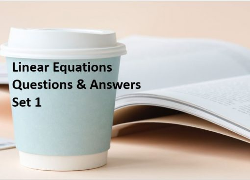linear equations questions and answers set1