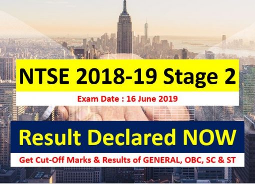 ntse result 2018-19 stage 2