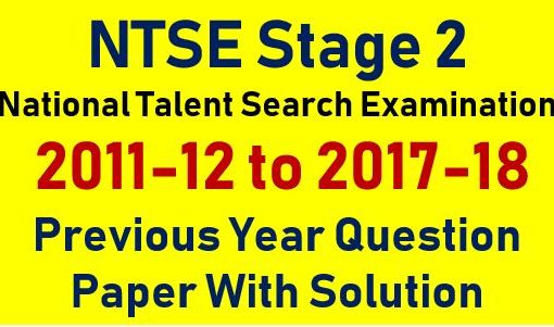 ntse stage 2 previous year question paper with solutions