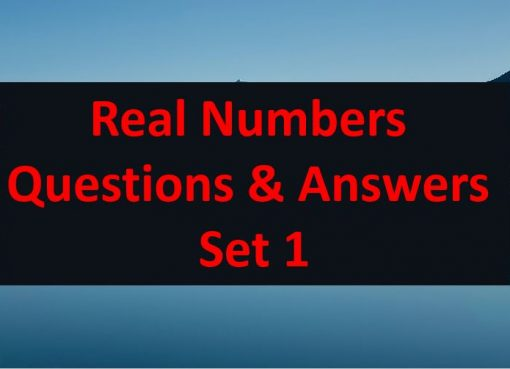 real numbers questions and answers set 1