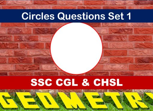 SSC CGL Geometry Circles Set 1