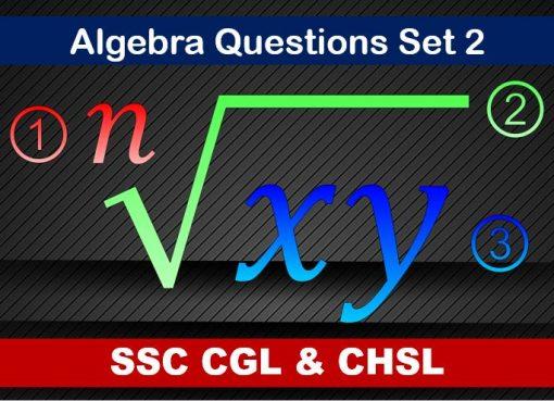 ssc cgl chsl algebra set 2
