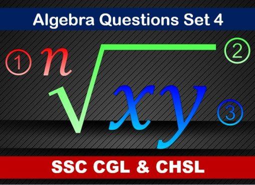 ssc cgl chsl algebra set 4