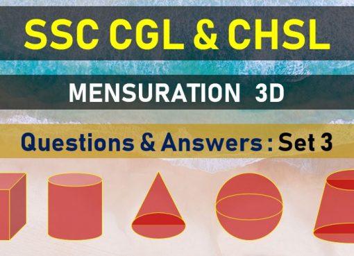 ssc cgl chsl mensuration questions answers set 13