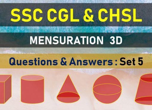 ssc cgl chsl mensuration questions answers set 15