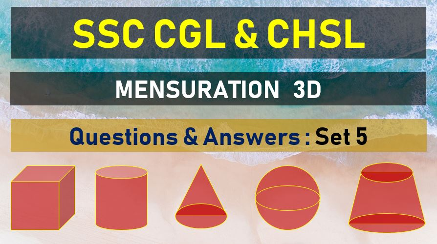 ssc cgl chsl mensuration questions answers set 15