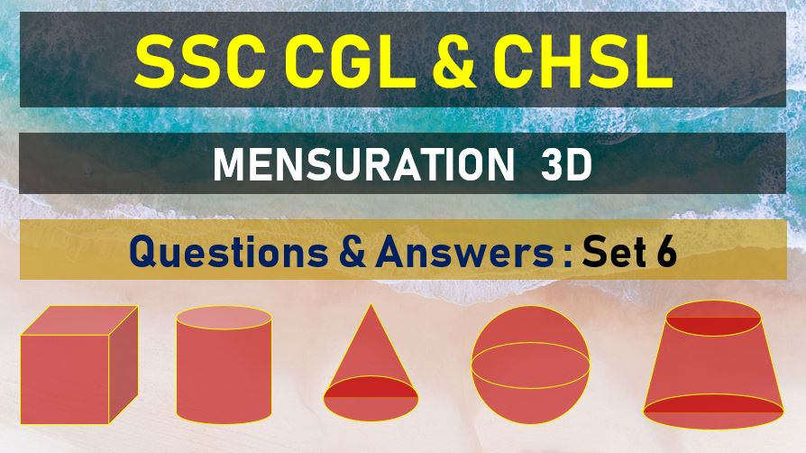 ssc cgl chsl mensuration questions answers set 16