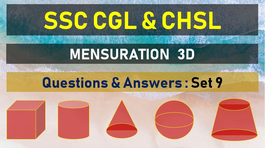 ssc cgl chsl mensuration questions answers set 19