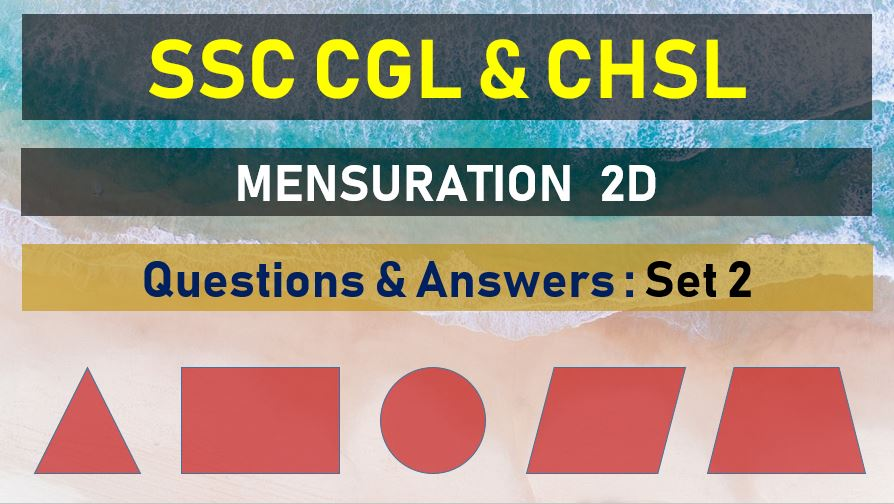 ssc cgl chsl mensuration questions answers set 2