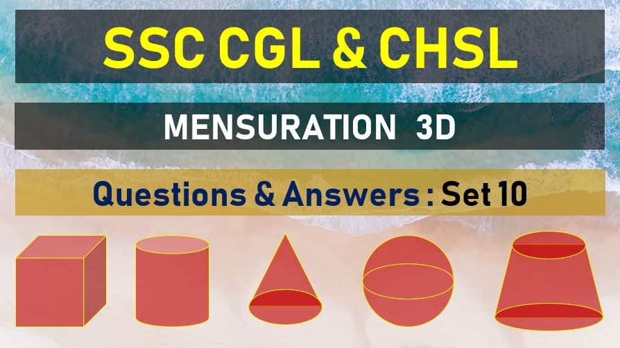 ssc cgl chsl mensuration questions answers set 20