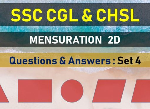 ssc cgl chsl mensuration questions answers set 4