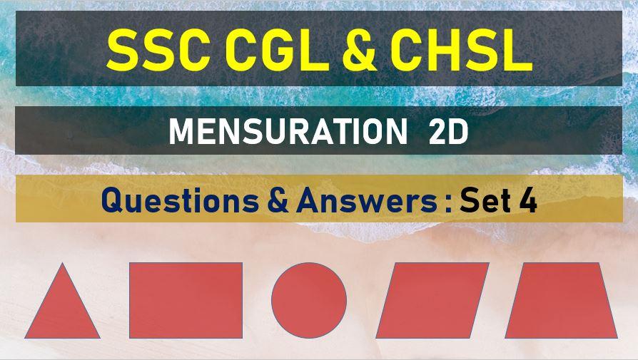 ssc cgl chsl mensuration questions answers set 4