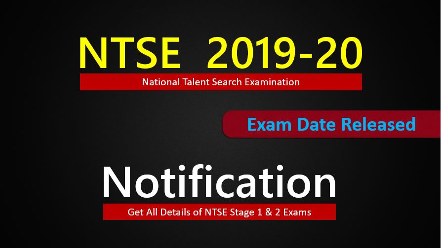 ntse 2019-20 notifications