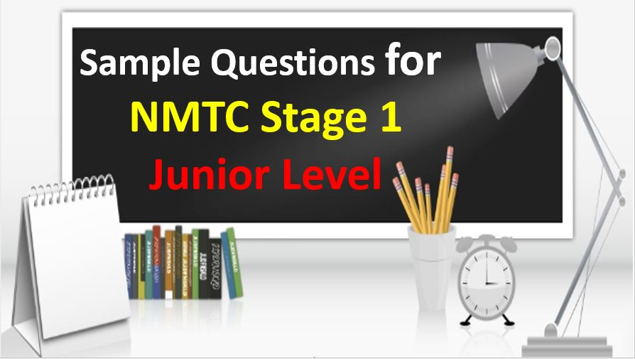 sample paper for NMTC Stage 1 Junior Level
