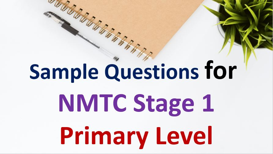 sample paper for NMTC Stage 1 Primary Level