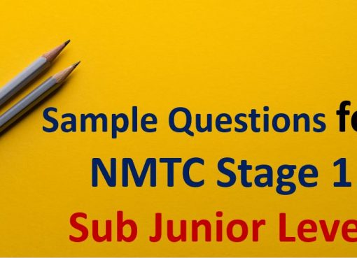 sample paper for NMTC Stage 1 sub junior Level