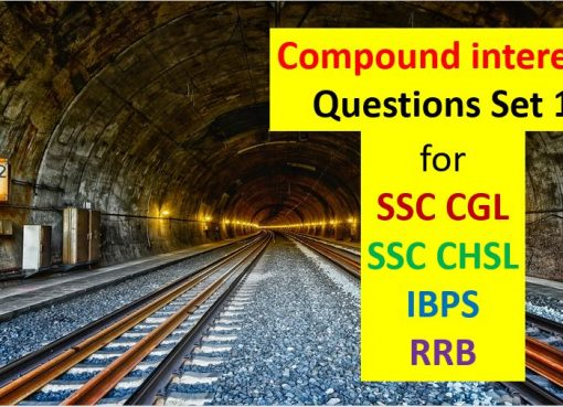 compound interest questions set 1 for ssc cgl chsl ibps rrb