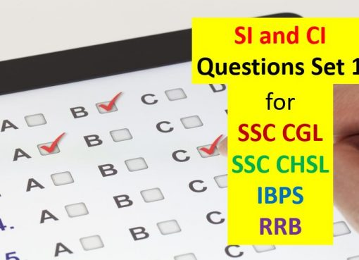 si and ci questions set 1 for ssc cgl chsl ibps rrb
