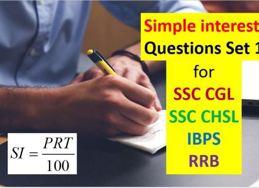simple interest questions set 1 for ssc cgl chsl ibps rrb