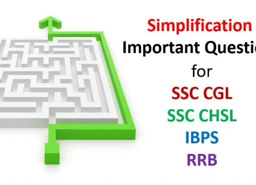 simplification important questions for sscg cgl chsl ibps rrb
