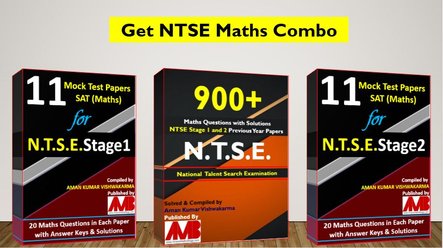 NTSE Stage 1 and 2 Math Ques Bank and Mock Test Papers