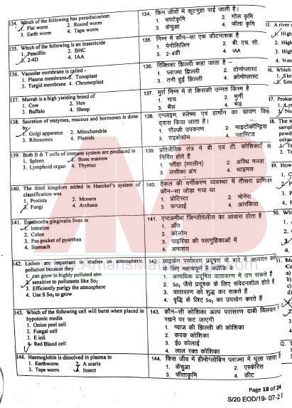 JSTSE 2019-20 Question Paper With Answer Keys Solutions