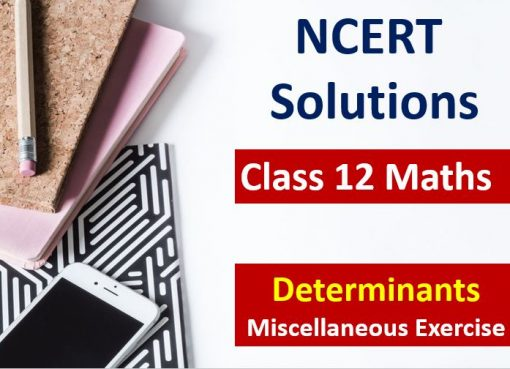 NCERT Solutions for Class 12 Maths Determinants