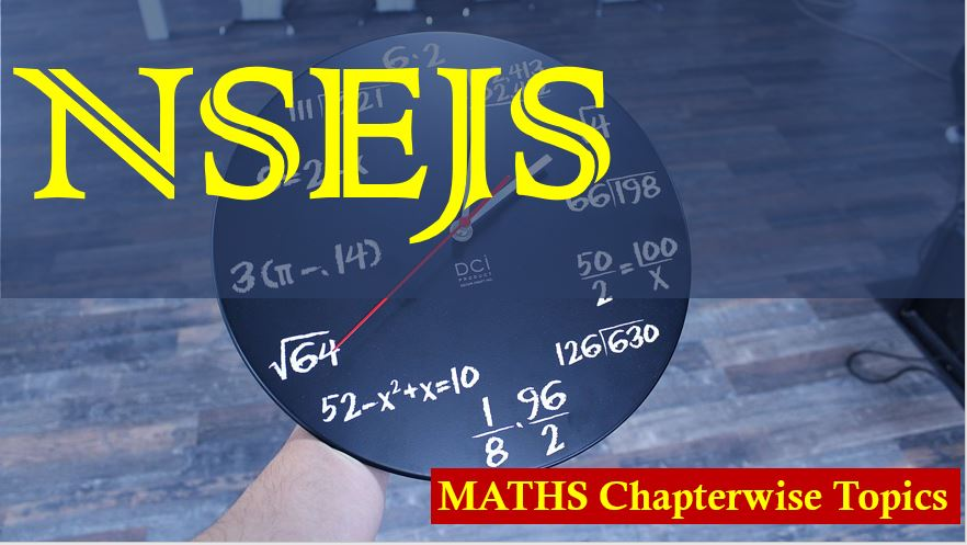NSEJS Syllabus Physics Chemistry Mathematics Biology Chapterwise Topics