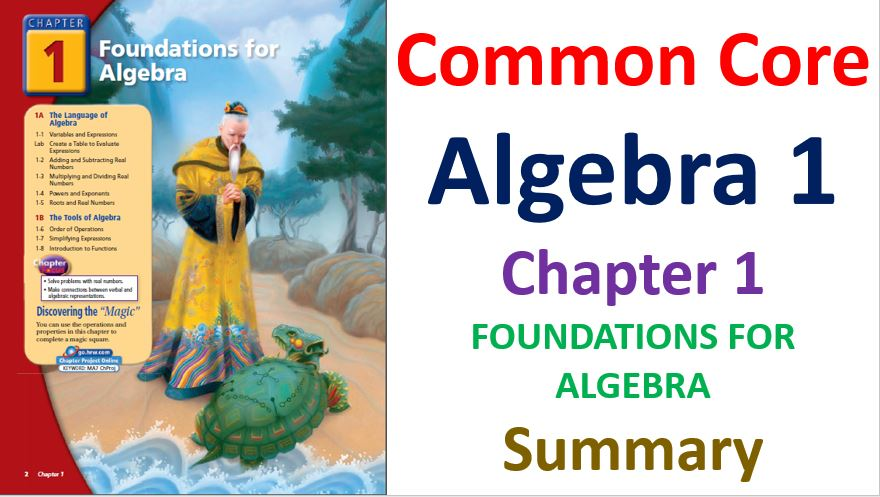 Common-Core-Algebra-1-Unit-1-Foundations-For-Algebra-Chapter