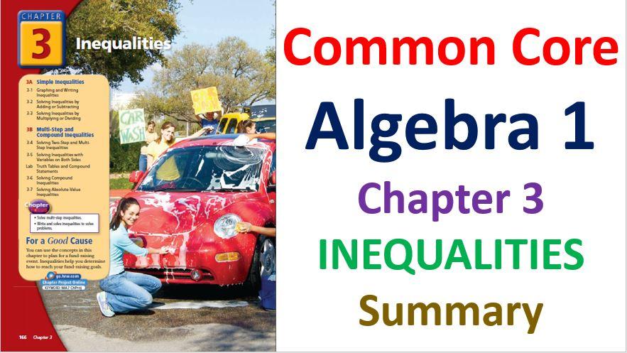 Common-Core-Algebra-1-Unit-3-Inequalities-Chapters-Summary