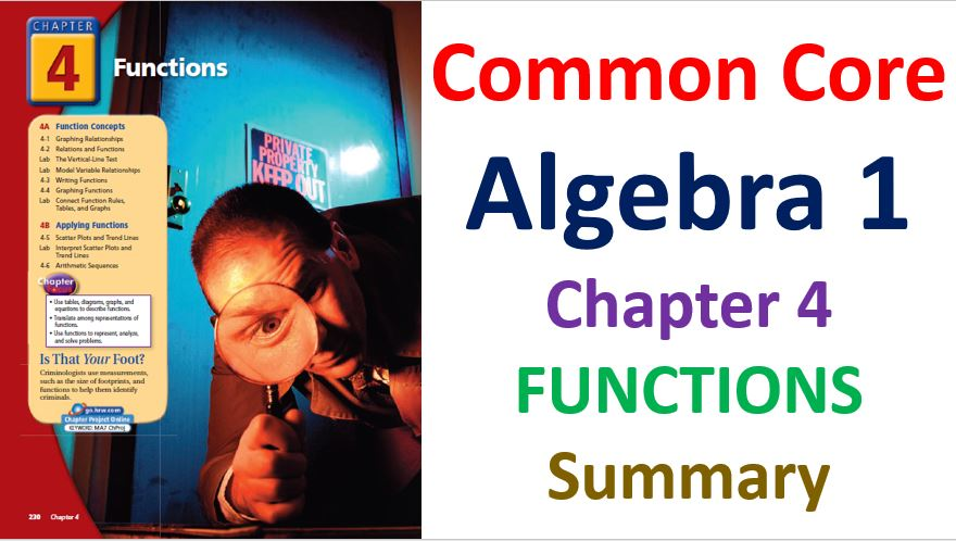 Common-Core-Algebra-1-Unit-4-Functions-Chapters-List