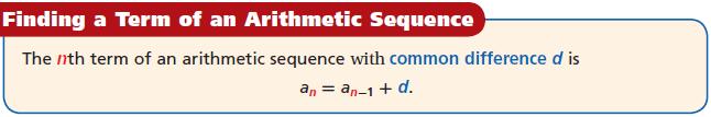 Common Core Algebra 1 Unit 4B Chapter 6 Arithmetic Sequence