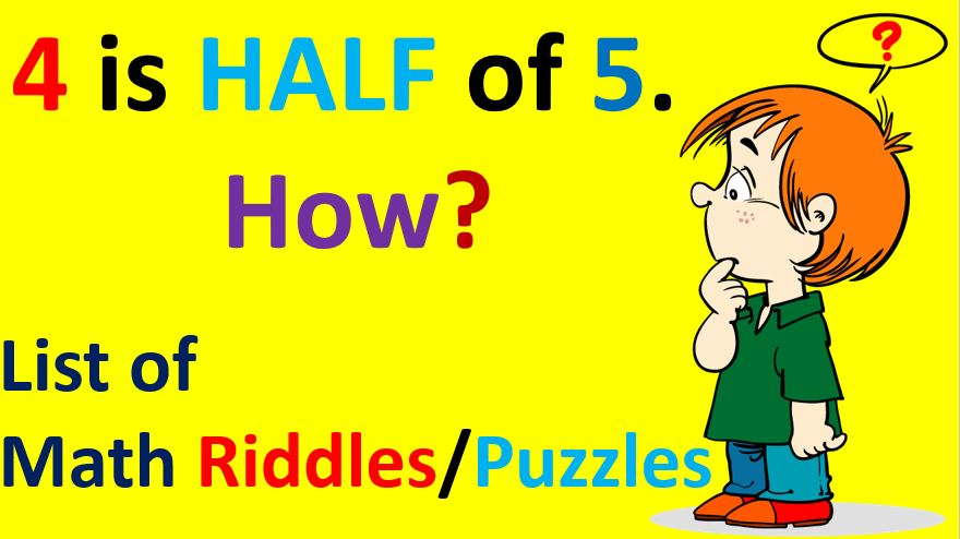 Math Riddles for Kids Brain Teasers Math Riddles Puzzles with Answers Easy Hard Tricky